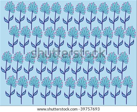 blue flower background - stock photo