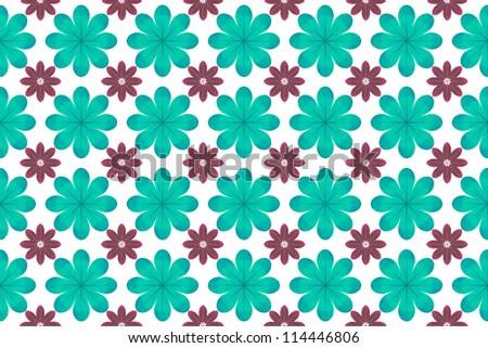 Blue flower pattern background - stock photo