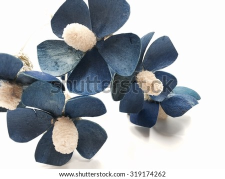 blue flowers - stock photo