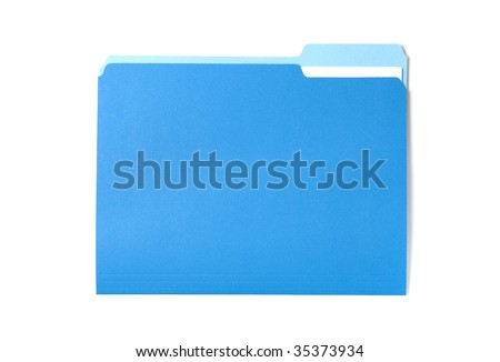 Blue Folder - stock photo