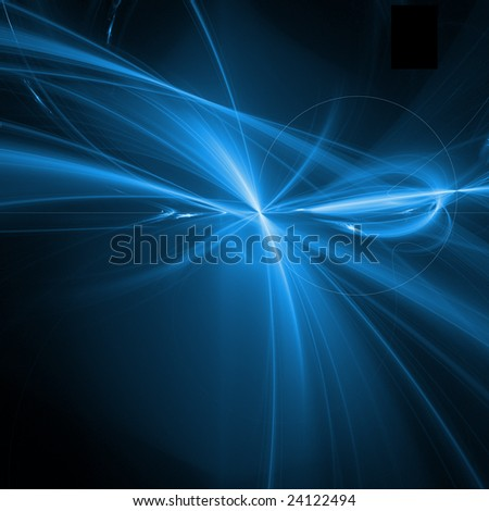 blue fractal curves - stock photo