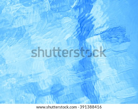 Blue frozen water texture abstract natural background - stock photo