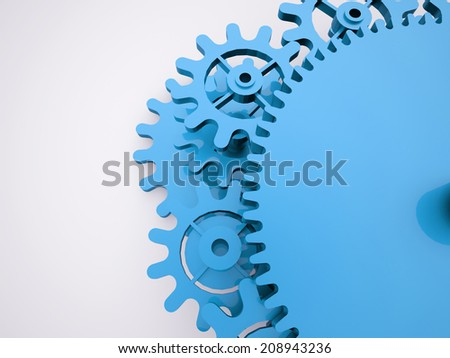 Blue gears mechanism concept