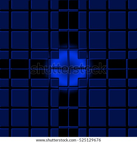 blue  geometric background with  squares