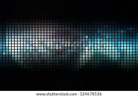 blue geometric flash. Raster version - stock photo