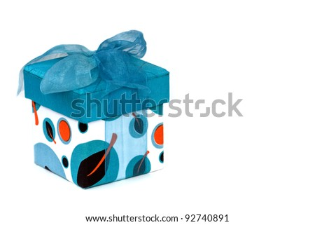 Blue Gift Box - stock photo