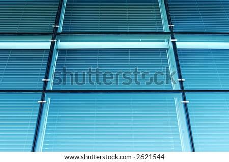 Blue glass. - stock photo