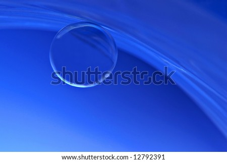 Blue glass ball - stock photo