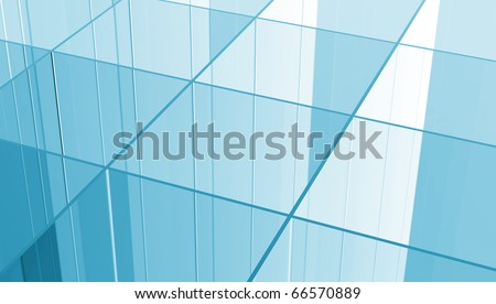 Blue Glass grid abstract background - stock photo