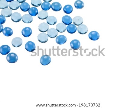 blue glass marble background