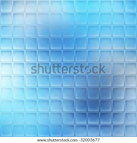 Blue glass mosaic background