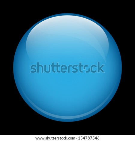 blue glass sphere on a black background