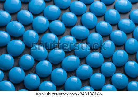 blue glass stones - stock photo