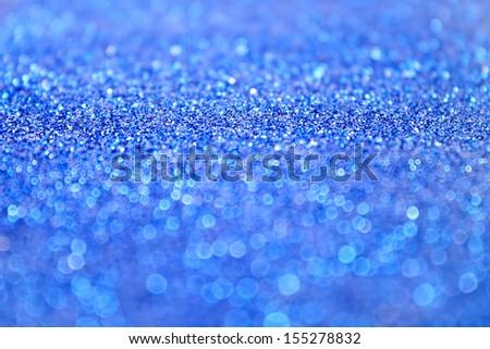 Blue glitter background - stock photo