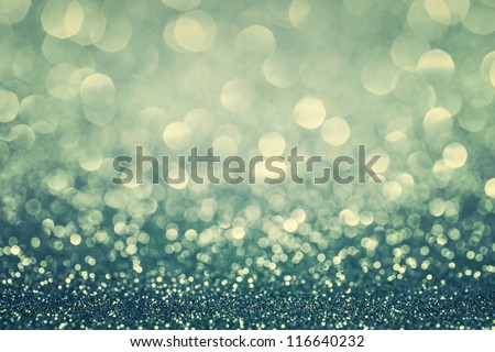 Blue glitter christmas abstract background - stock photo