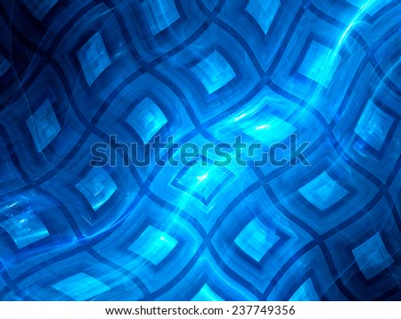 Blue glowing flexible squares, computer generated abstract background