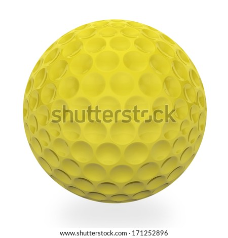 Blue golf ball isolated on white  - stock photo