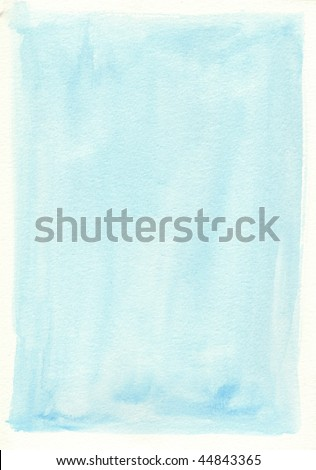 blue great watercolor background - watercolor paints on a rough texture paper