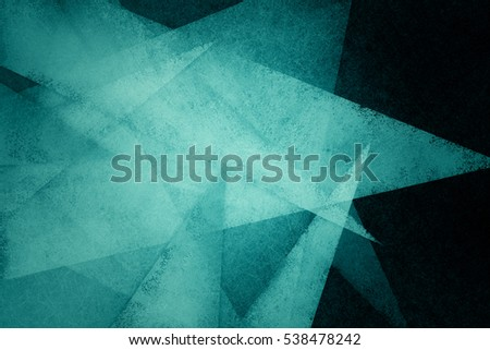blue green and black background with abstract textured shards or triangle shapes on dark background in random artsy border pattern