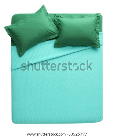 blue - green bed