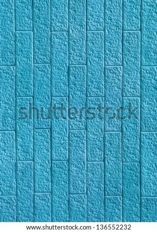blue green stone wall - stock photo