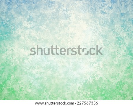 Blue green white vintage background. Abstract grunge background with patina texture. - stock photo