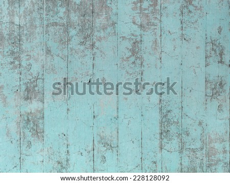 Blue green wood pattern - stock photo