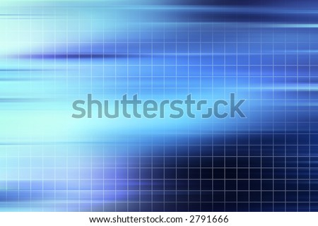 blue grid abstract background - stock photo