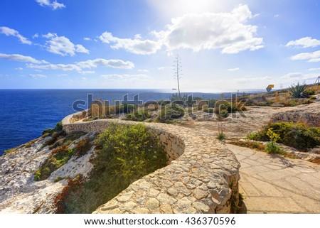 Blue Grotto area in Malta, Europe - stock photo