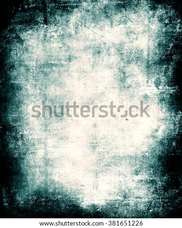 Blue grunge abstract texture background with faded central area for your text or picture - stock photo