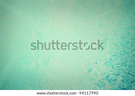 blue grunge texture wall with cracks and light space - stock photo