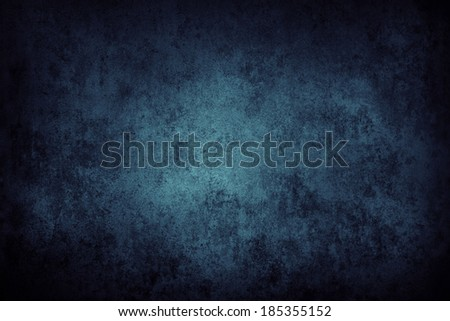 Blue grunge textured wall closeup - stock photo