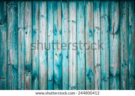 Blue Grunge Wooden Texture With Natural Patterns. Background Surface Old Wood Paint Over. - stock photo