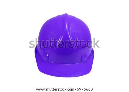 Blue Hard Hat - stock photo