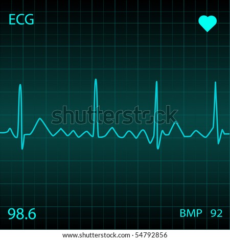Blue Heart Monitor. EPS available in my portfolio.