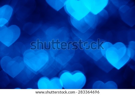 blue heart shape holiday photo as background - stock photo