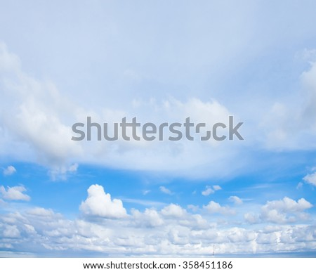 Blue Heavens Natural Beauty Skies Above  - stock photo