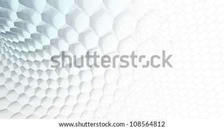 Blue Honeycomb - stock photo