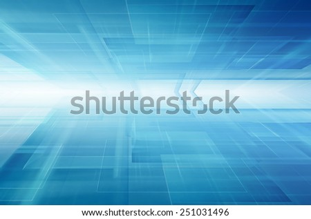 blue horizon futuristic technology background - stock photo