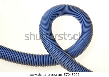 Blue Hose Plastic Pipe - stock photo