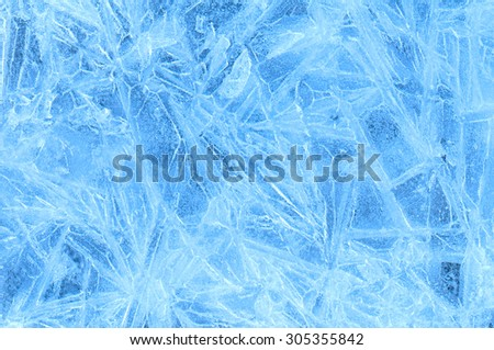 blue ice abstract natural background - stock photo