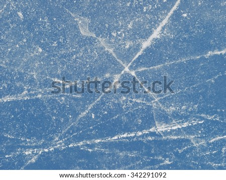 Blue ice texture, abstract frozen background - stock photo
