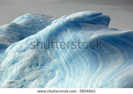 Blue iceberg layers - stock photo