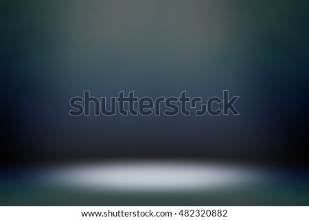 blue interior with light background
