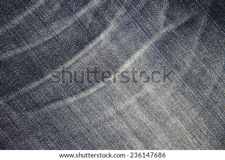 Blue jean fabric background texture