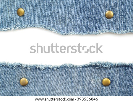 blue jean isolated on white background - stock photo