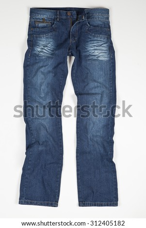 blue jean on white background