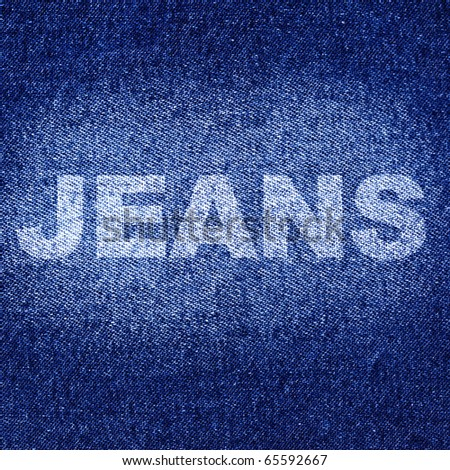 "Blue jean texture with the ""Jeans"" word"