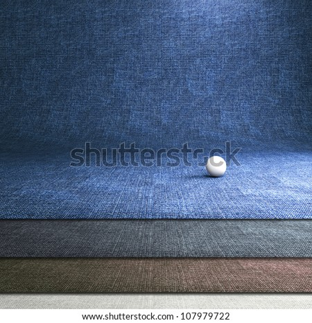Blue jeans dark background. Professional photo studio background. - stock photo