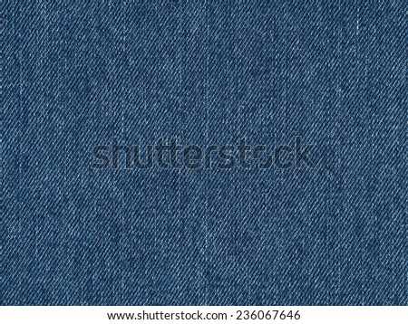 Blue jeans fabric surface background, modern clean denim material texture - stock photo